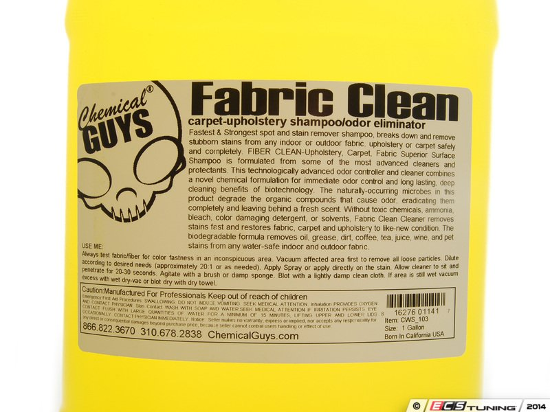 how to use chemical guys fabric clean