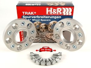 ES#1303529 - 40757252 - DRA Series Wheel Spacers - 20mm (1 Pair) - Bolts to the hub with supplied bolts, uses existing bolts to attach wheel to spacer - H&R - BMW