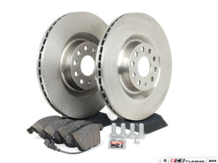 ES#2702170 - 1K0615301M - Front Brake Service Kit - Everything necessary to replace your front brakes - Assembled By ECS - Volkswagen