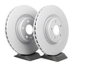 ES#2075183 - 8K0698301MKT3 - Front Brake Rotors - Pair (345x30) - Featuring the 'Coat Z: Anti-corrosion' - Zimmermann - Audi