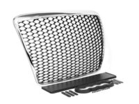ES#2717903 - 004505ecs02 - RS Mesh Style Grille - Black With Chrome Frame - Add a sleek new look to your front end with this Euro mesh style grille. - ECS - Audi