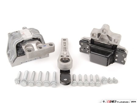 ES#2597182 - 1K0199555QKT1 - ECS Ultimate Engine & Transmission Mount Kit - Includes all driveline mounts with all the necessary hardware - Assembled By ECS - Volkswagen