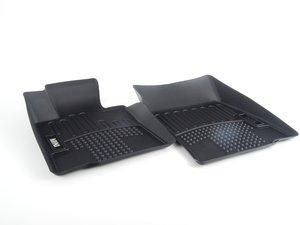 ES#2530953 - 82112290532 - Front Floor Mat Liners Black - Set - All Weather Floor Mats - Genuine MINI - MINI