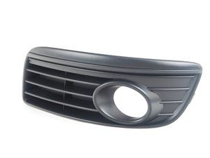 ES#6431 - 1K0853665AD9B9 - Left Blackout Grille - With Fogs - Slotted like the original but without chrome trim - Genuine Volkswagen Audi - Volkswagen