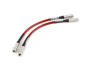 ES#2581674 - 002077ECS01A - Exact-Fit Stainless Steel Brake Lines - Rear - DOT-compliant lines to improve pedal feel in your vehicle. - ECS - Porsche
