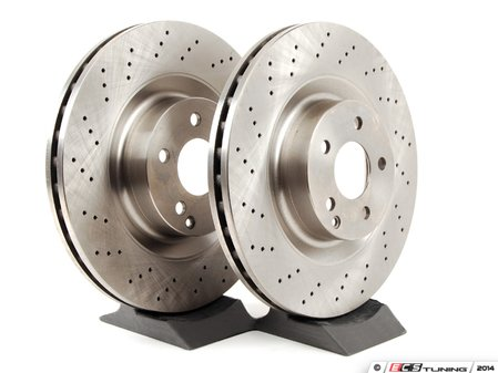 ES#2731918 - 2214211612KT2 - Front Brake Rotors - Pair - Does not include new rotor securing screws - Balo - Mercedes Benz