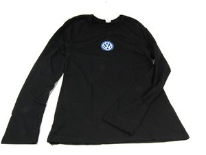 ES#1866471 - 13822-LG - Ladies Little Black Tee - Large - Ladies are you looking for a classic black tee that you can wear and feel good? This is the tee for you then! - DriverGear - Volkswagen