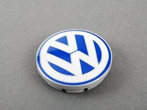 ES#2143098 - 1C060117109Z - Center Cap - Priced Each - Blue/White dome style wheel center cap - Genuine Volkswagen Audi - Volkswagen