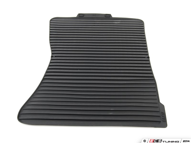 es2498402 front all weather rubber floor mat set anthracite black