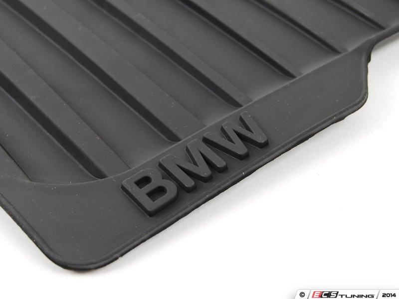 genuine bmw 51472231953 front all weather rubber floor mat set anthracite black 51 47 2. Black Bedroom Furniture Sets. Home Design Ideas