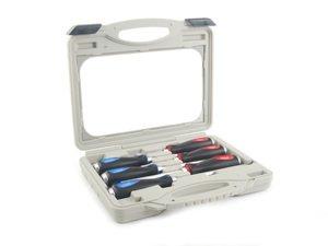 ES#2225921 - DRA739I - Go-Through Screwdriver Kit - 6 Pieces - (NO LONGER AVAILABLE) - Nickel chromoly steel screwdrivers with Ergo-Soft grip handle - Schwaben -