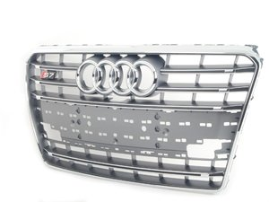 ES#2555671 - 4G8853651B1RR - Grille Assembly - Platinum Grey - Replace your faded or cracked grille - Genuine Volkswagen Audi - Audi