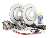 ES#2609151 - 34116765882BBKT - OE Rear Big Brake Kit - (320x22) - Featuring GEOMET coated blank rotors and Hawk HPS pads! - Assembled By ECS - BMW