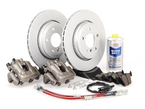 ES#2609151 - 34116765882BBKT - OE Rear Big Brake Kit - (320x22) - Featuring GEOMET coated blank rotors and Hawk HPS pads! Price includes $140.00 in refundable core charges. - Assembled By ECS - BMW