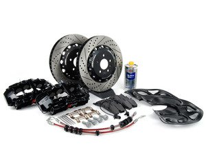 ES#2681770 - 8T0615108KT -  Front Big Brake Kit - Stage 3 - 2-Piece Rotors (365x34) - Featuring RS5 8-piston calipers, ECS stainless steel lines & Hawk HPS pads - ECS - Audi