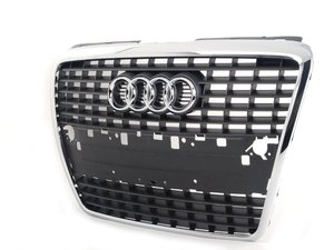 ES#264184 - 4E0853651AC1QP -  Grille assembly - Grey - Includes the chrome Audi rings - Genuine Volkswagen Audi - Audi