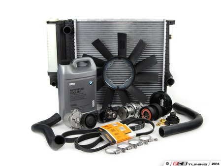 ES#2718389 - 11510393338KT5 - Cooling System Refresh Kit - Level 3 - The ultimate cooling refresh kit - featuring a Geba water pump with metal impeller - Assembled By ECS - BMW