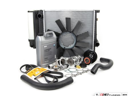 ES#2723999 - ECSE36M42CM - Cooling System Refresh Kit - Level 3 - The ultimate cooling refresh kit - includes aluminum thermostat housing, radiator and crank fan to alleviate all failure-prone cooling components - Assembled By ECS - BMW