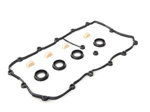 ES#2723996 - 077198025C - Valve Cover Gasket Set - Left - Cylinders 5-8 - Elring - Audi