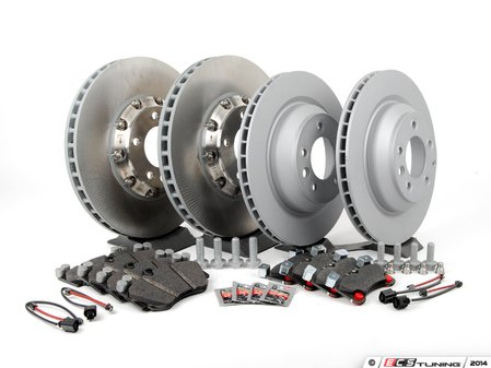 ES#2602380 - 95535140161OEKT1 - Front & Rear Brake Service Kit - Featuring genuine Porsche and Brembo rotors, and Textar brake pads - Assembled By ECS - Porsche