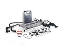 ES#2724958 - 11141439975KT1 - Water Pipe Service Kit  - Addresses common low-mileage failure caused by poor OEM o-ring/pipe design. More advanced service kit with German-made Geba water pump with metal impeller - Assembled By ECS - BMW