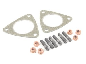 ES#2576236 - 4F0253115AKT1 - Downpipe Hardware Kit - Contains all of the hardware you need to install new downpipes on your Audi  - Assembled By ECS - Audi