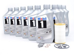 ES#2739769 - 10900152609KT4 - Engine Oil Service Kit - With 0W-40 Engine Oil - Everything you need to perform an engine oil service - Genuine Mercedes Benz - Mercedes Benz