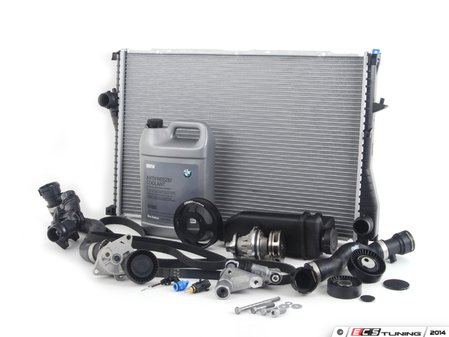 ES#2739217 - ECSE391153 - ECS Cooling Maintenance Kit - Level 3 - The ultimate cooling refresh kit - with aftermarket components, featuring an ECS Aluminum Pulley and a GEBA water pump - Assembled By ECS - BMW