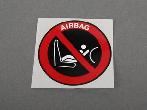 ES#184892 - 71212122545 - Passenger side air bag label - Label indicating safety for the passenger air bag - Genuine BMW - BMW