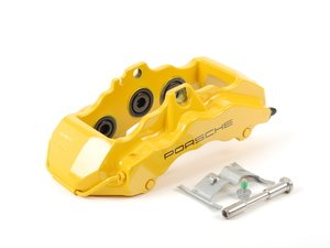 ES#1485503 - 99635143231 - Front Brake Caliper - Yellow - Right side fitment - Genuine Porsche - Porsche