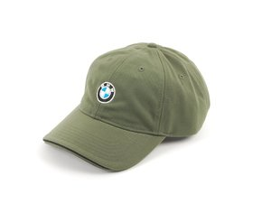 ES#1833350 - 80160439607 - Men's BMW Recycled Brushed Twill Cap - Olive color, made from recycled plastic - Genuine BMW - BMW