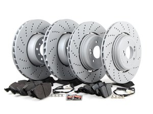 ES#2730752 - 34112282805KT7 - Front & Rear Brake Service Kit - Featuring Zimmermann rotors and Pagid pads - Assembled By ECS - BMW