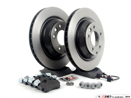 ES#2602338 - 95535240151ROKT - Rear Brake Service Kit - Featuring Brembo rotors and Textar brake pads - Assembled By ECS - Porsche