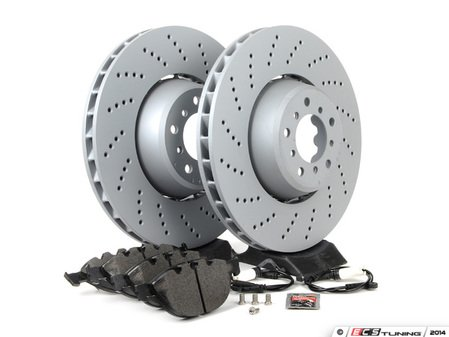 ES#2730753 - 34112282805KT8 - Front Brake Service Kit - Featuring Zimmermann rotors and Textar pads - Assembled By ECS - BMW