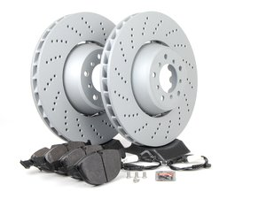 ES#2730750 - 34112282805KT5 - Performance Front Brake Service Kit - Featuring Zimmermann rotors and Hawk HPS performance pads - Assembled By ECS - BMW
