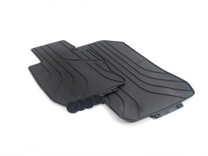 ES#2728154 - 51472311000 - Front All Weather Floor Mats - Black - Protect your carpet from dirt, salt, water, and everything else. - Genuine BMW - BMW