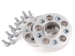 ES#378 - 60556651 - DRA Series Wheel Spacers - 30mm (1 Pair) - H&R 30 mm spacers attach with supplied bolts, uses existing bolts to attach wheel to spacers. Bolts to the hub - H&R - Audi Mercedes Benz Porsche