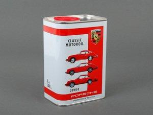 ES#2739100 - 00004320928 - Porsche Classic Motor Oil (20W-50) - 1 Liter - Specialized oil for air-cooled engines - One liter - Genuine Porsche - Porsche