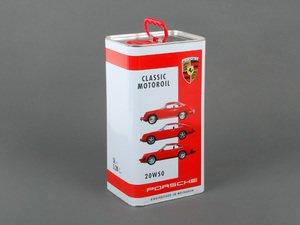 ES#2739109 - 00004320929 - Porsche Classic Motor Oil (20W-50) - 5 Liter - Specialized oil for air-cooled engines - 5 liters - Genuine Porsche - Porsche