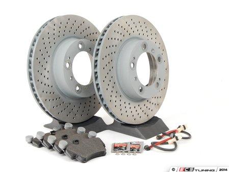 ES#2594703 - 99735193905FOEKT - Front Brake Service Kit - Featuring Sebro rotors and Textar brake pads - Assembled By ECS - Porsche