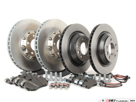 ES#2602321 - 95535140161OEKT - Front & Rear Brake Service Kit - Featuring genuine Porsche and Brembo rotors, and Textar brake pads - Assembled By ECS - Porsche