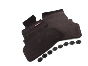 ES#195772 - 82111469759 - Carpeted Floor Mats - Anthracite/Black - Complete set of four - Genuine BMW - BMW