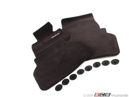 ES#195772 - 82111469759 - Carpeted Floor Mats - Anthracite/Black - Complete set of four - Genuine BMW - BMW