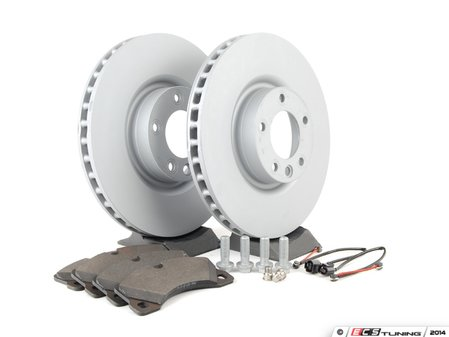 ES#2602358 - 95535140300FOKT - Front Brake Service Kit - Featuring Zimmerman Z-Coated rotors and Bosch QuietCast brake pads  - Assembled By ECS - Porsche