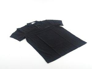 ES#1931143 - WAP75000L0B - Men's Polo Shirt - Large  - Black polo shirt with Porsche script on front - Genuine Porsche - Porsche