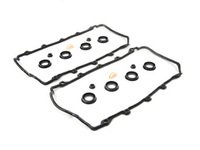 ES#2748543 - 077198025AKT5 - Valve Cover Gasket Kit - Includes the gasket sets for the left and right valve cover - Elring - Audi Volkswagen