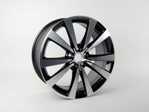 """ES#2211366 - 5C0601025NAX1 - 19"""" Tornado - Priced Each  - 19""""x8"""" ET48 5x112 - Gloss Black - Genuine Volkswagen Audi - Volkswagen"""