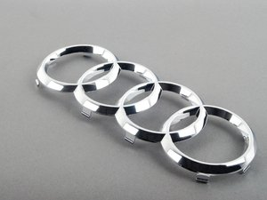 ES#2063933 - 8X0853605 - Audi Rings Grille Emblem - Chrome - Replace your missing or damaged rings - Genuine Volkswagen Audi - Audi
