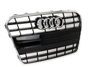 ES#2541923 - 8T0853651KT94 - Grille - Glossy Black/Chrome - Clean up or change your look - Genuine Volkswagen Audi - Audi