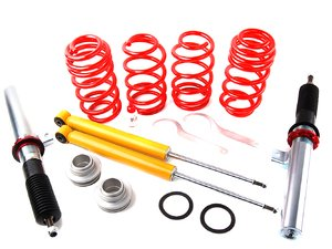 "ES#1303237 - 29258-3 - Street Performance Coilover Kit - Unrivaled comfort and performance. Average lowering of 1.3""-2.2""F 1.0""-2.0""R - H&R - Volkswagen"